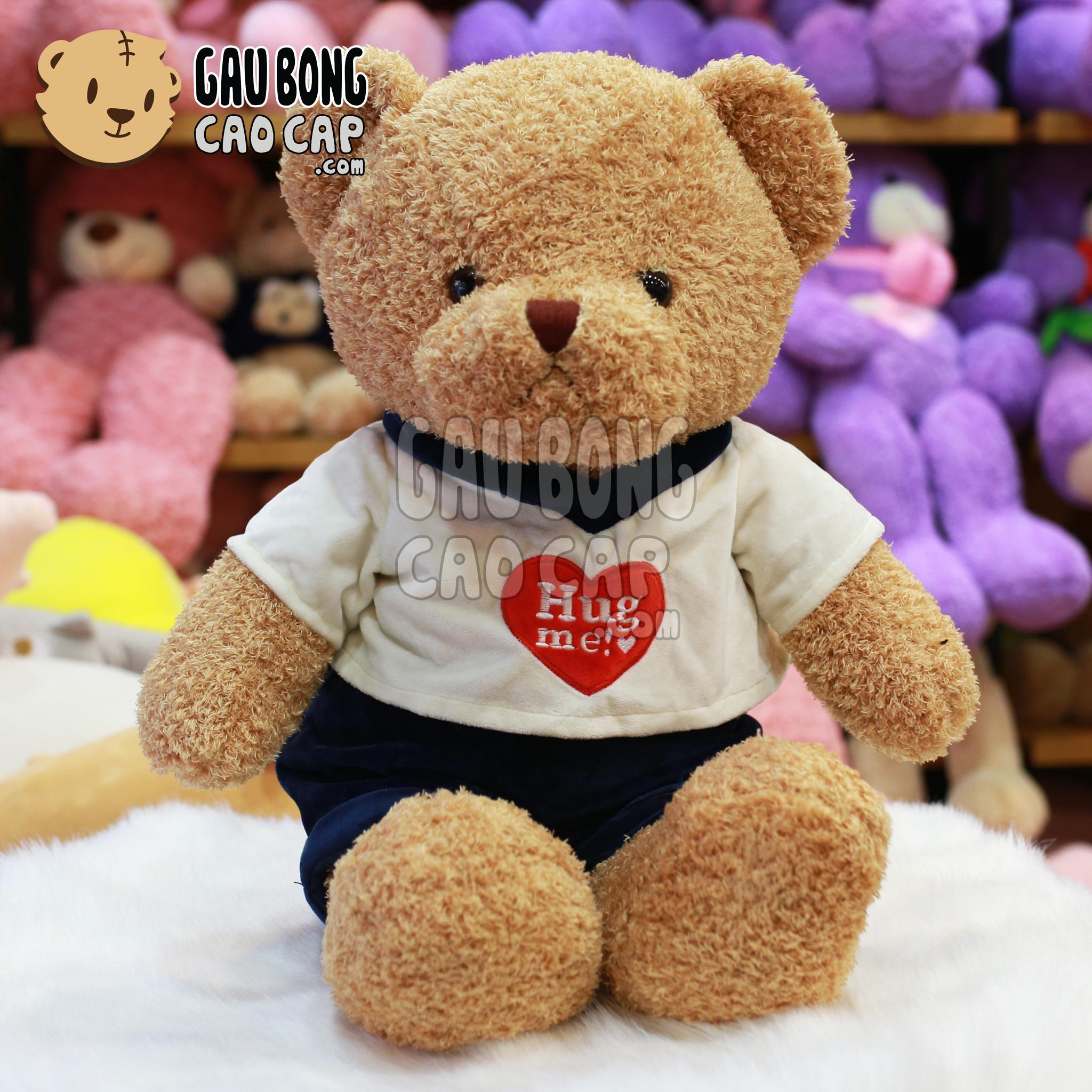 Gấu Teddy mặc áo tim Hugme