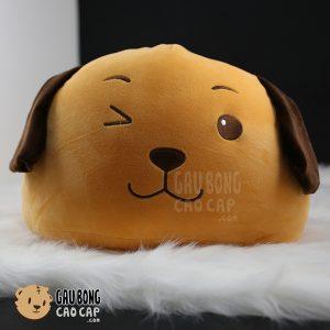 Gối ôm đầu to Chó Bông Vàng