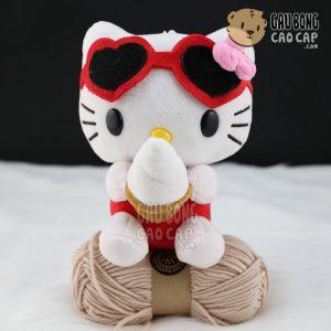 Gấu Bông Kitty nhí ôm Kem