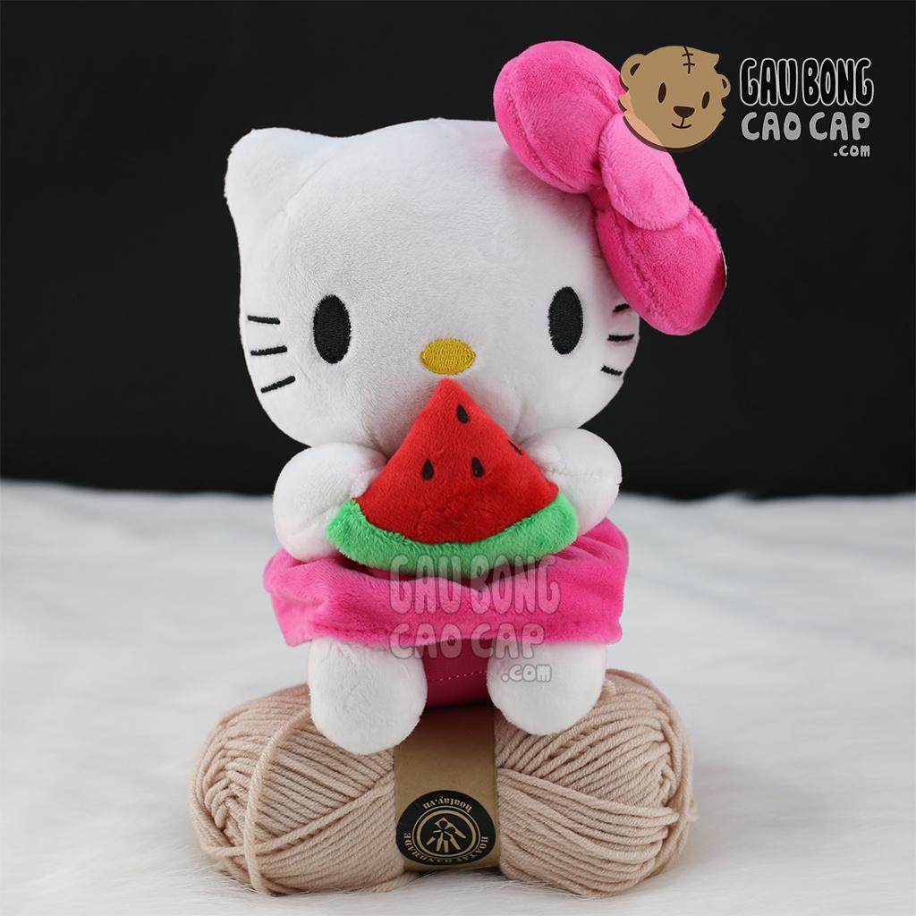 Gấu Bông Kitty nhí cầm dưa hấu