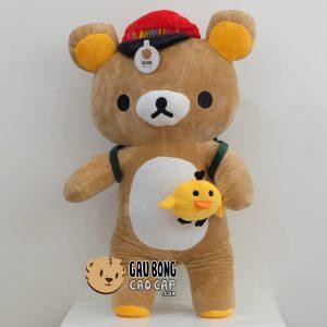 Gấu Bông Rilakkuma đeo Balo đi học