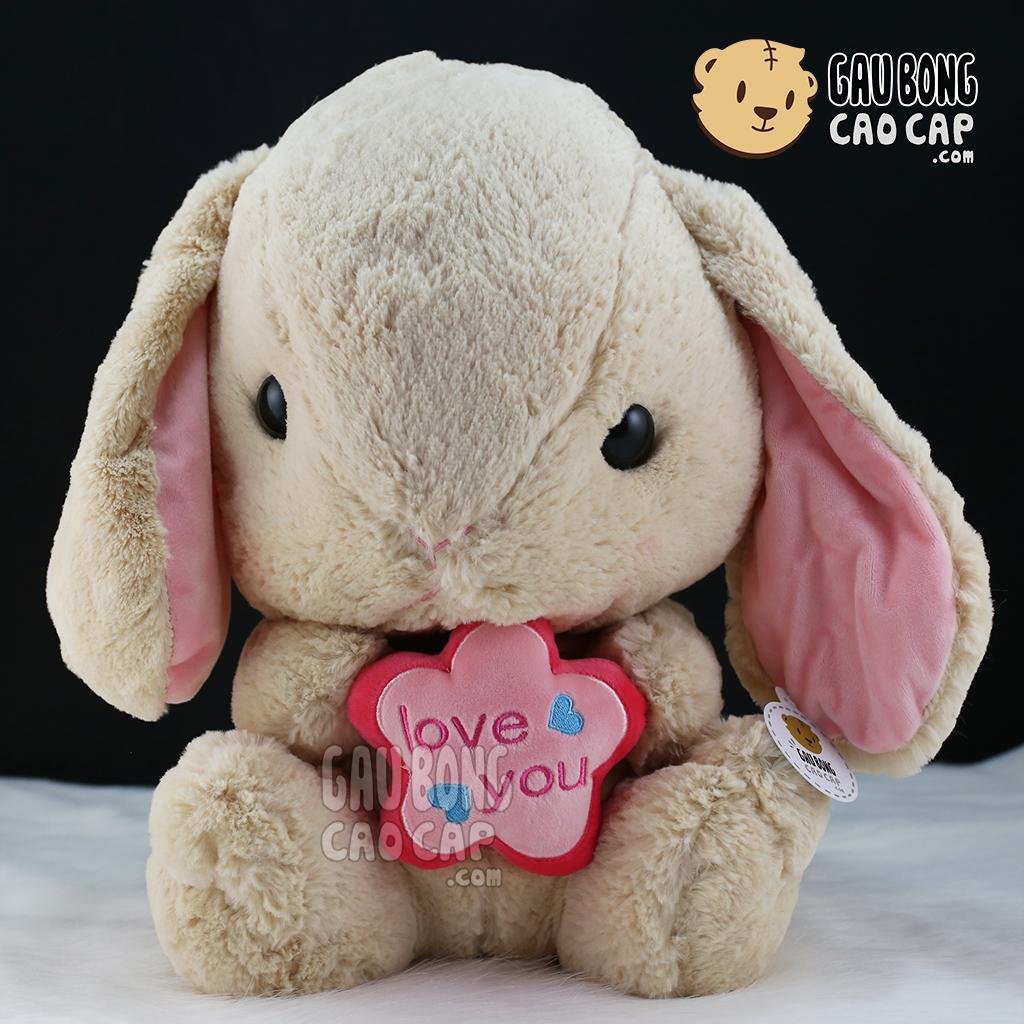 Thỏ ôm hoa love you
