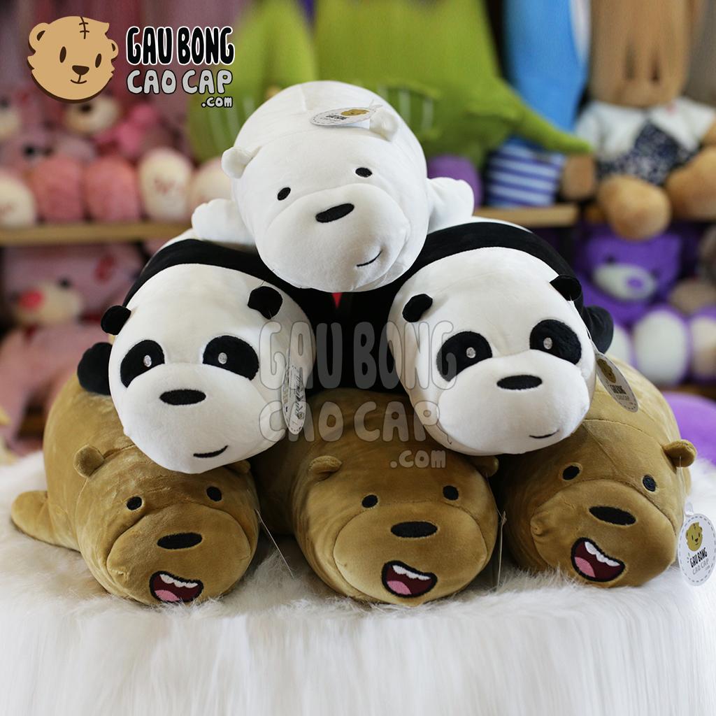 Gấu Bông We Bare Bear - Nằm