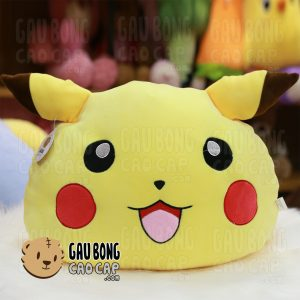 Gối ôm đầu to Pikachu