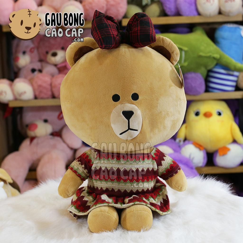Gối mền Gấu Brown nữ mặc váy