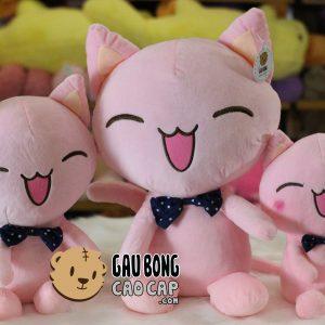 Mèo bông nơ chấm bi