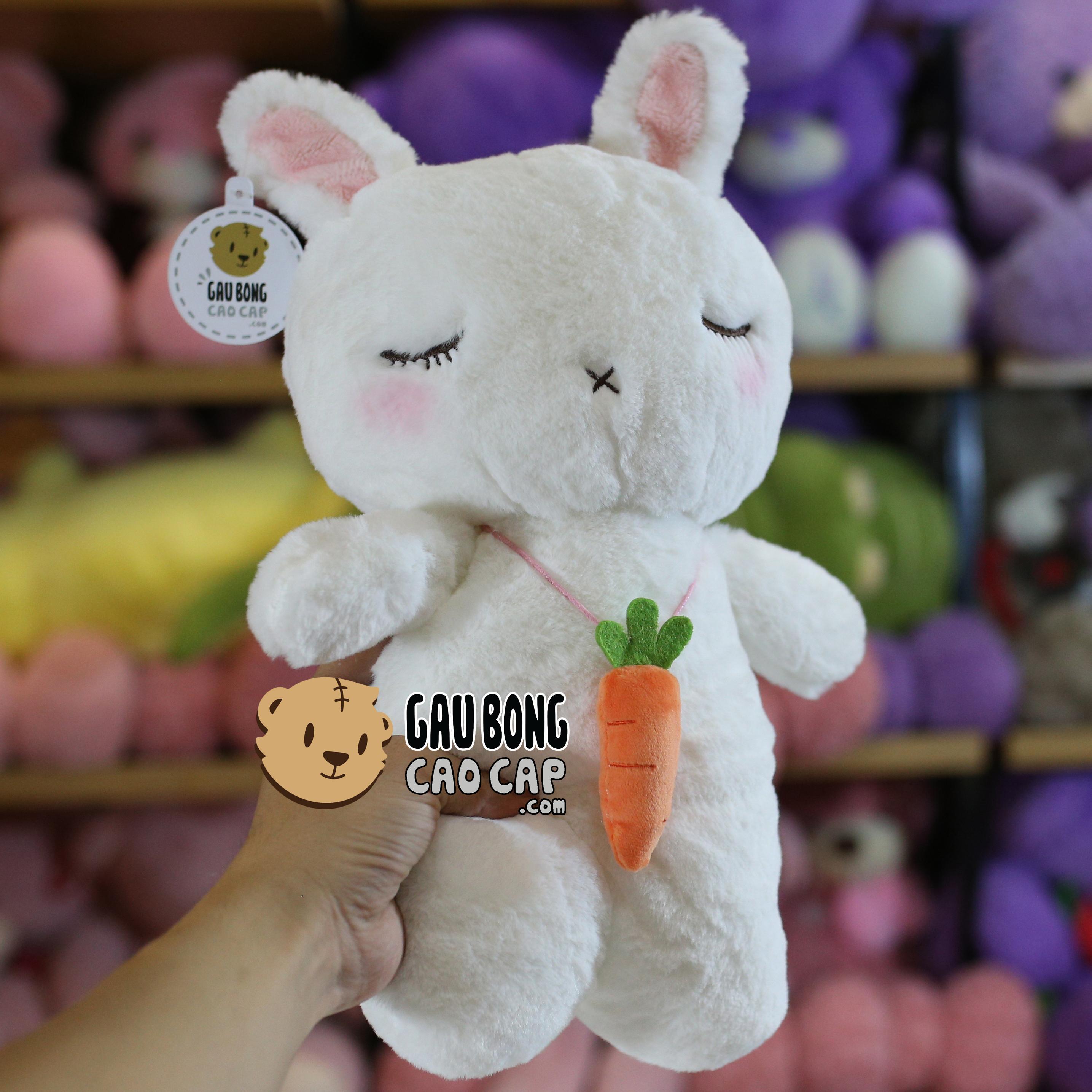 Thỏ Bông đeo dây chuyền Cà Rốt