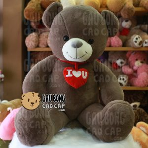Gấu Teddy Smooth đeo tim I LOVE YOU