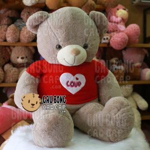 Gấu Teddy Smooth áo len tim love