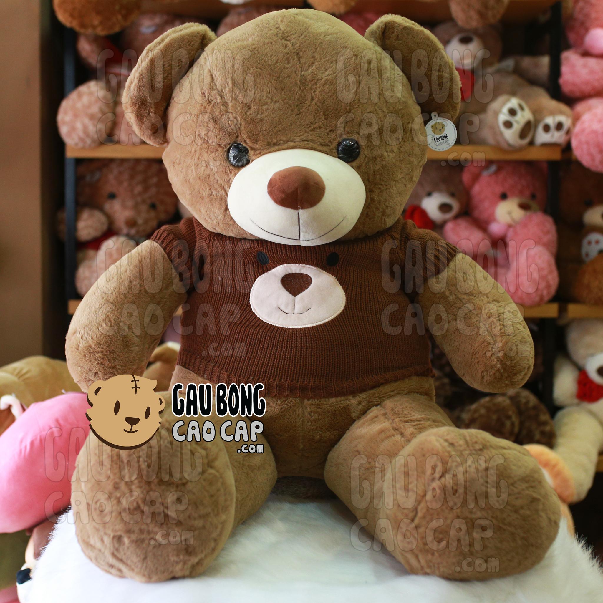 Gấu Teddy Smooth áo len mặt Gấu màu Nâu