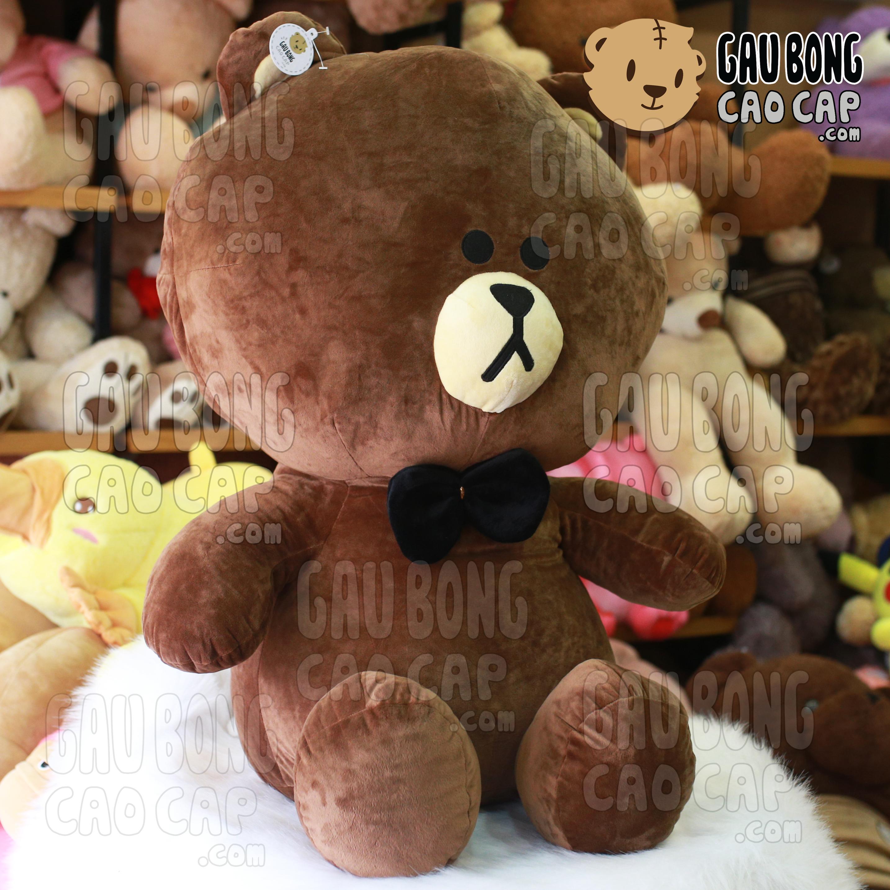 Gấu Brown đeo nơ