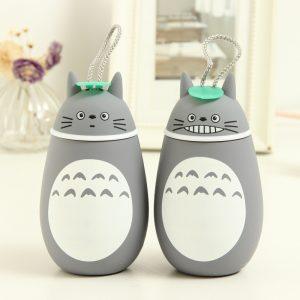Bình nước Totoro bọc cao su 380ml