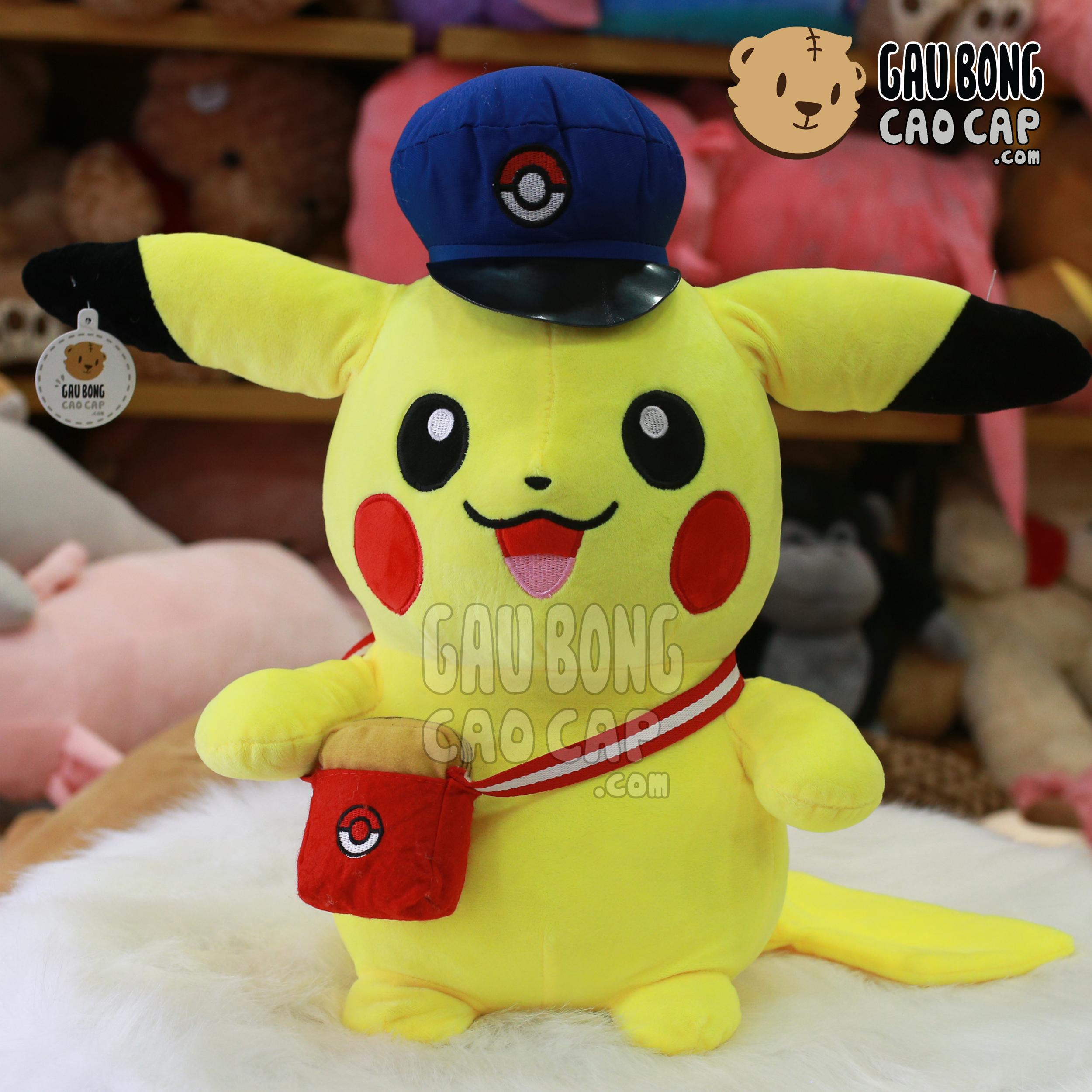 Gấu bông Pikachu đeo túi