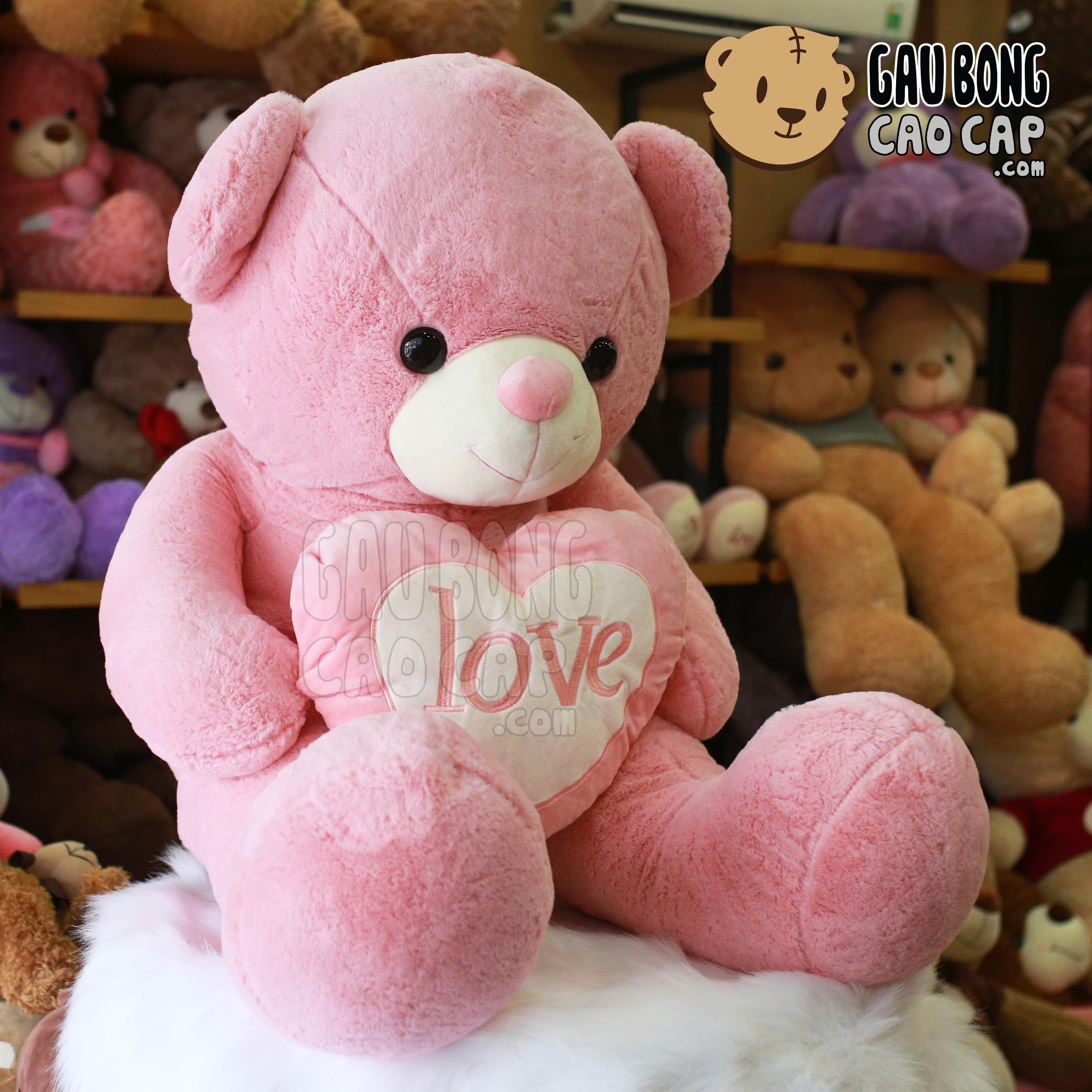 Gấu Teddy Smooth tim LOVE