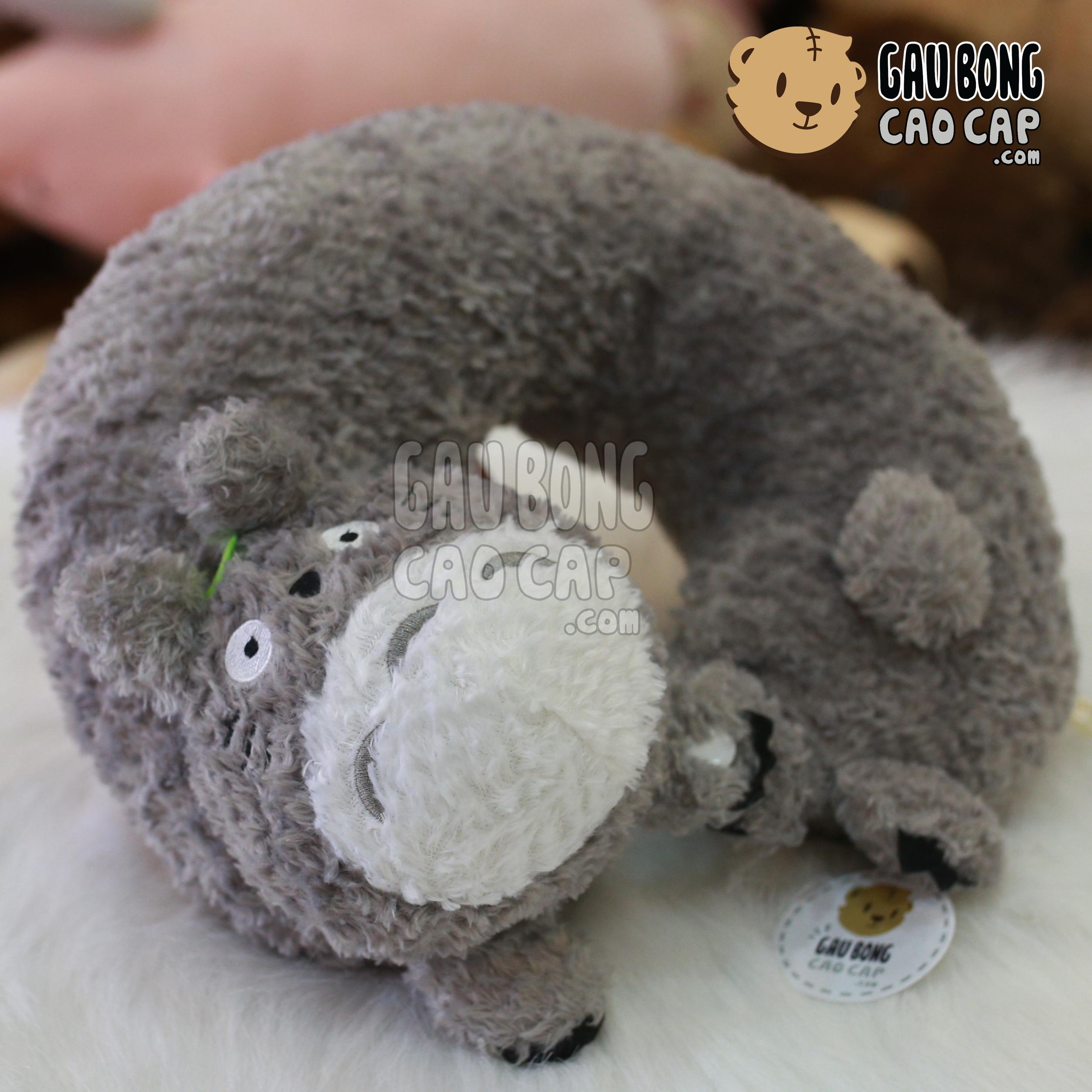 Gối chữ U lông xù Totoro