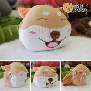 Gối mền đút tay mặt Chó Bông SHIBA