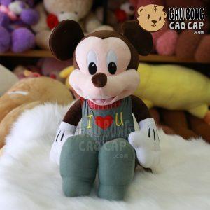 Chuột Bông Mickey mặc yếm I Love You