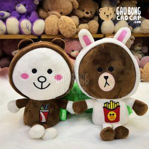 Gấu Brown, Thỏ Cony Cosplay đồ ăn