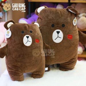 Gấu Brown tựa lưng