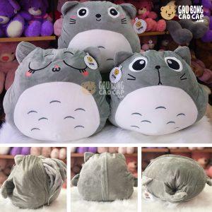 Gối mền Totoro mặt biểu cảm lông mịn