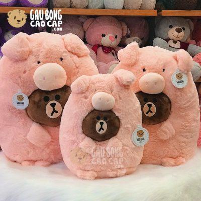 Gấu Brown cosplay Heo Bông