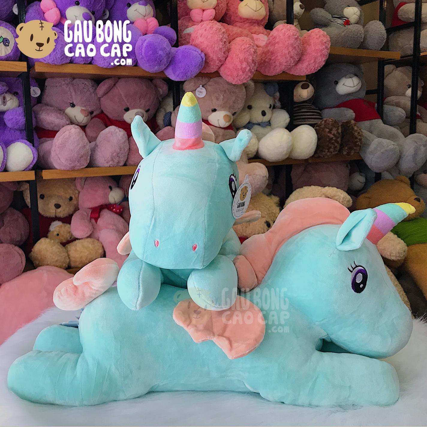 Ngựa Bông Pony sừng cầu vồng