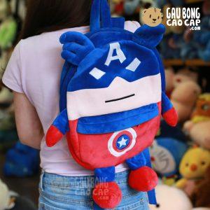 Balo Gấu Bông Avenger Captain - Có chân tay