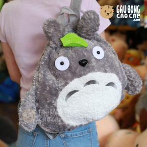Balo Gấu Bông totoro lông xù lá