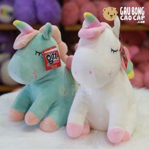 Unicorn bông lông mịn 4 chân
