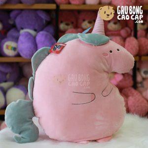 Gấu Bông Unicorn dẹp gối ôm 50cm