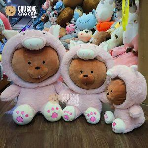 Gấu Bông We Bare Bear Cosplay Heo Bông