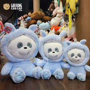Gấu Bông We Bare Bear – PANDA Cosplay Unicorn xanh