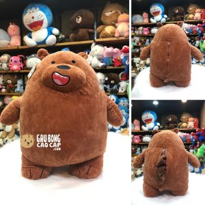 Gối mền 2in1 - Gấu We Bare Bear - Grizzly