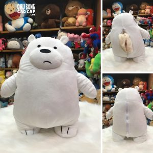 Gối mền 2in1 - Gấu We Bare Bear - Ice Bear