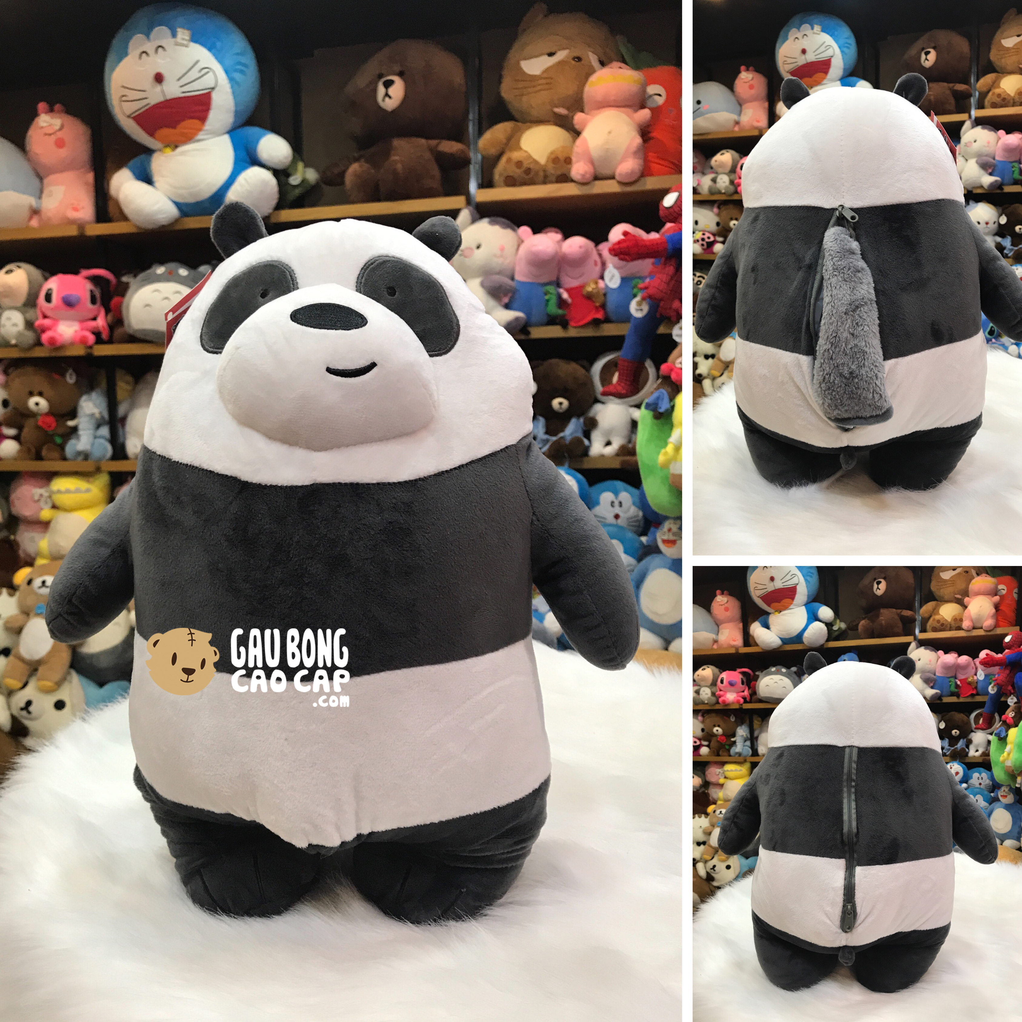 Gối mền 2in1 - Gấu We Bare Bear - Panda