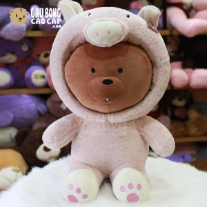 Gấu Bông We Bare Bear – Grizzly Cosplay Heo Bông