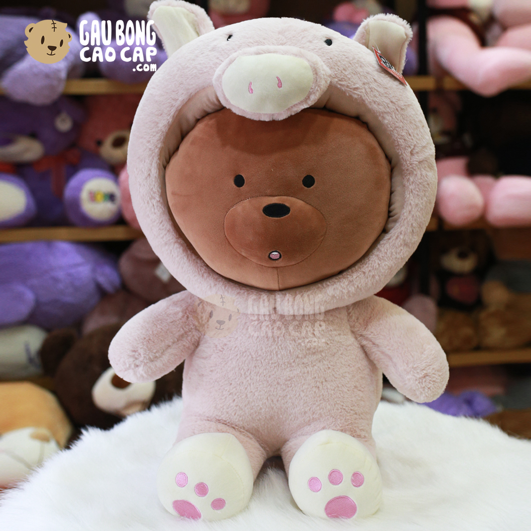 Gấu Bông We Bare Bear - Grizzly Cosplay Heo Bông