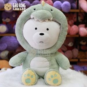 Gấu Bông We Bare Bear – Ice Bear Cosplay Khủng Long
