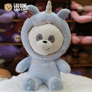 Gấu Bông We Bare Bear - PANDA Cosplay Unicorn xanh