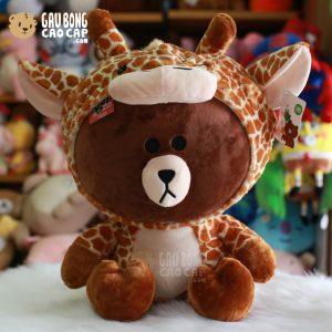 Gấu Brown cosplay Hươu Bông