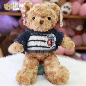 Gấu Teddy lông xoắn mặc áo len Thủy Thủ