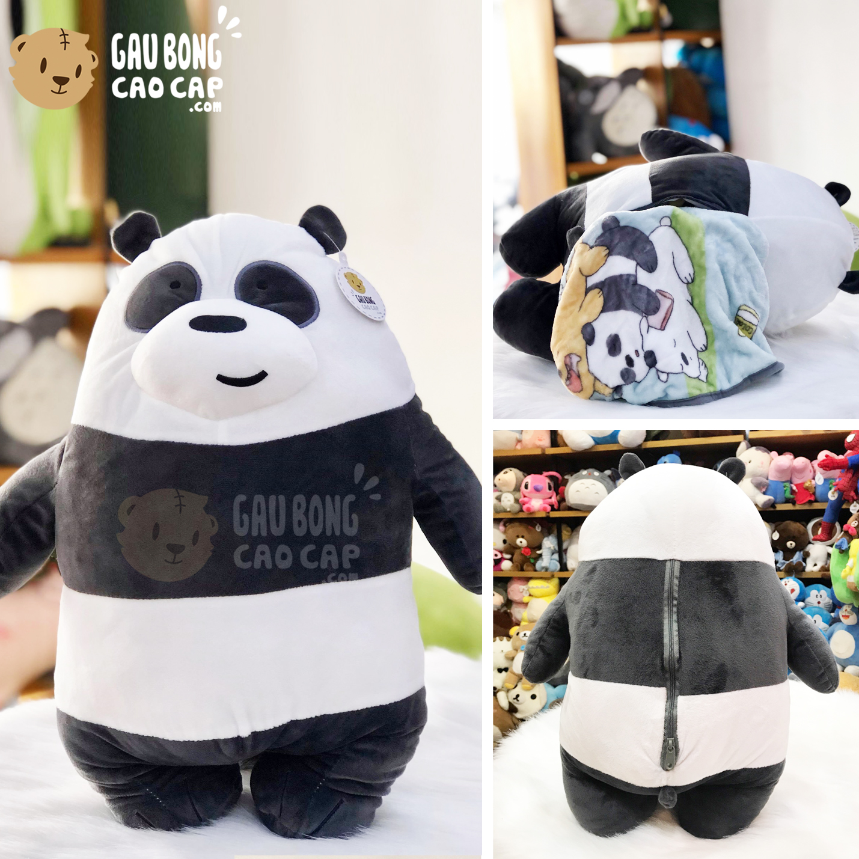 Gối mền 2in1 Gấu We Bare Bear Panda