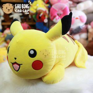 Gấu Bông Pikachu nằm lông mịn