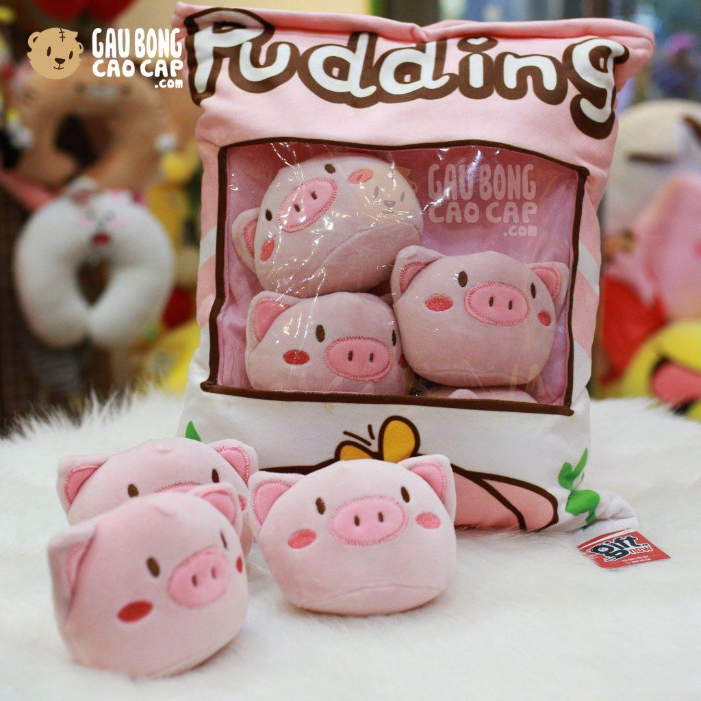 Gối ôm Pudding Heo Bông