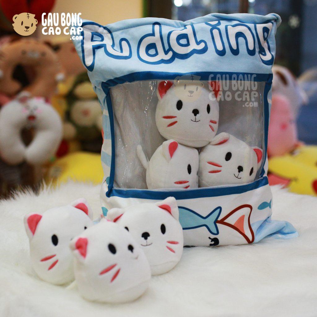 Gối ôm Pudding mèo bông