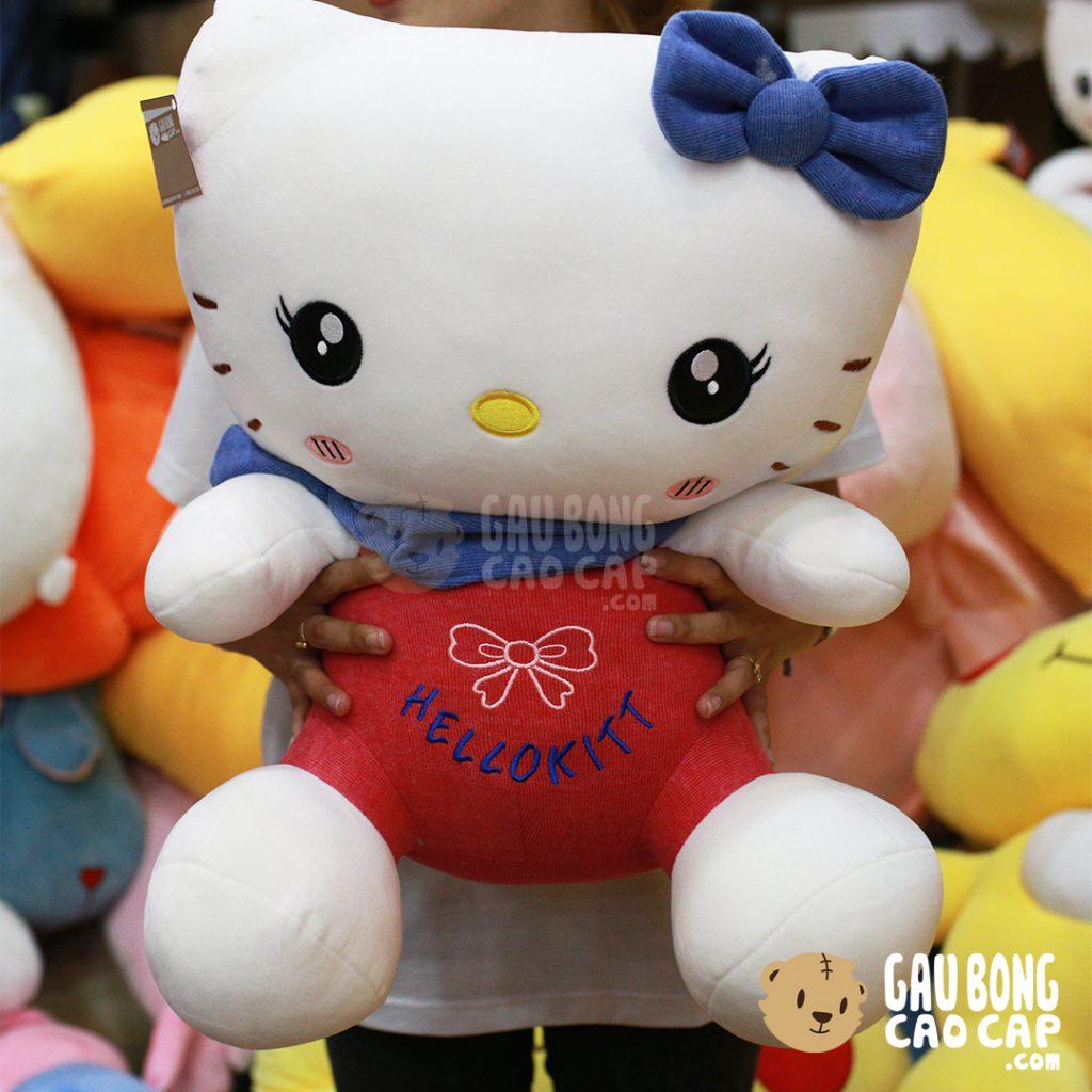 Gấu Bông Kitty lông nỉ Hello Kitt