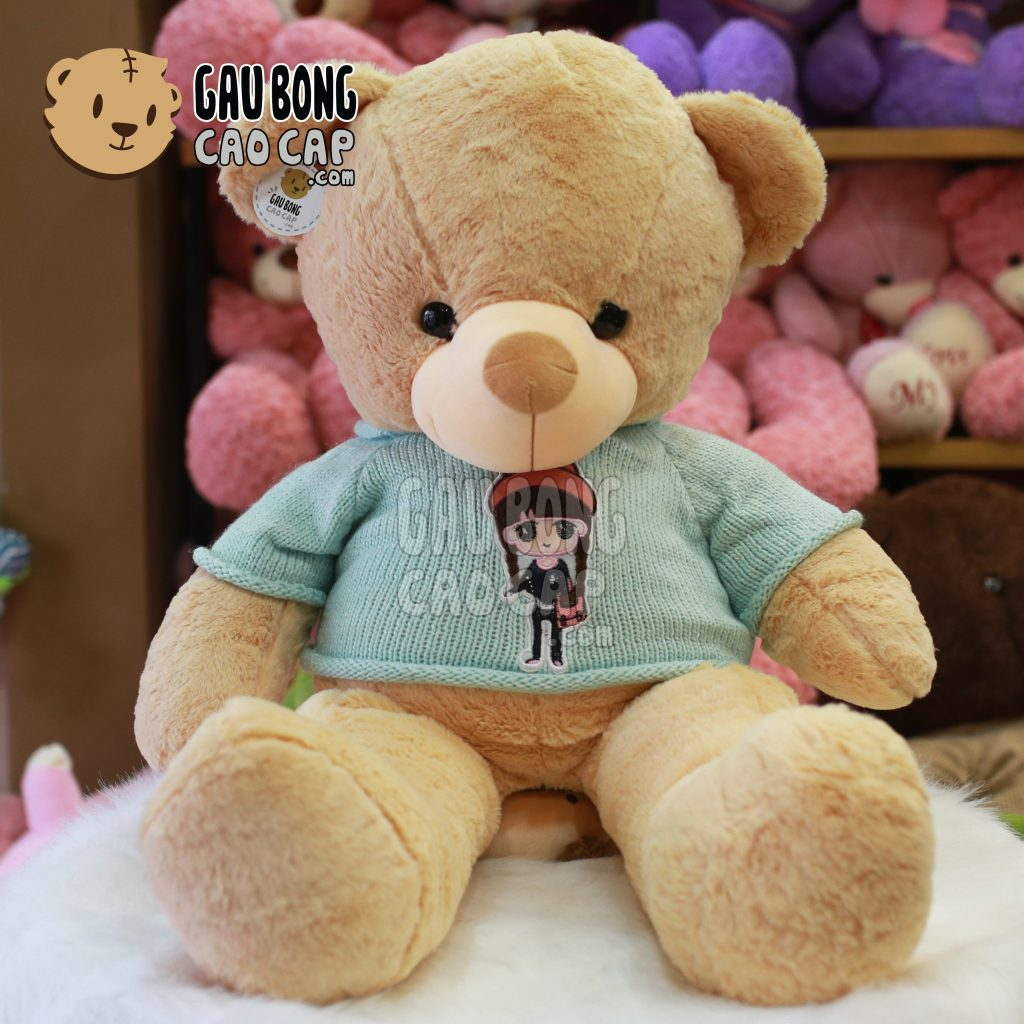 Gấu Teddy Smooth áo len Girl
