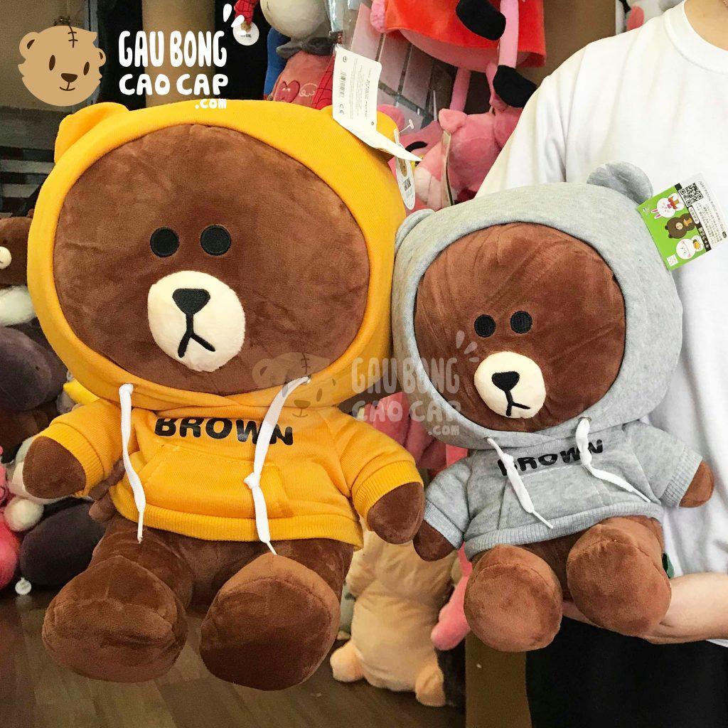 Gấu Brown mặc áo Hoodie