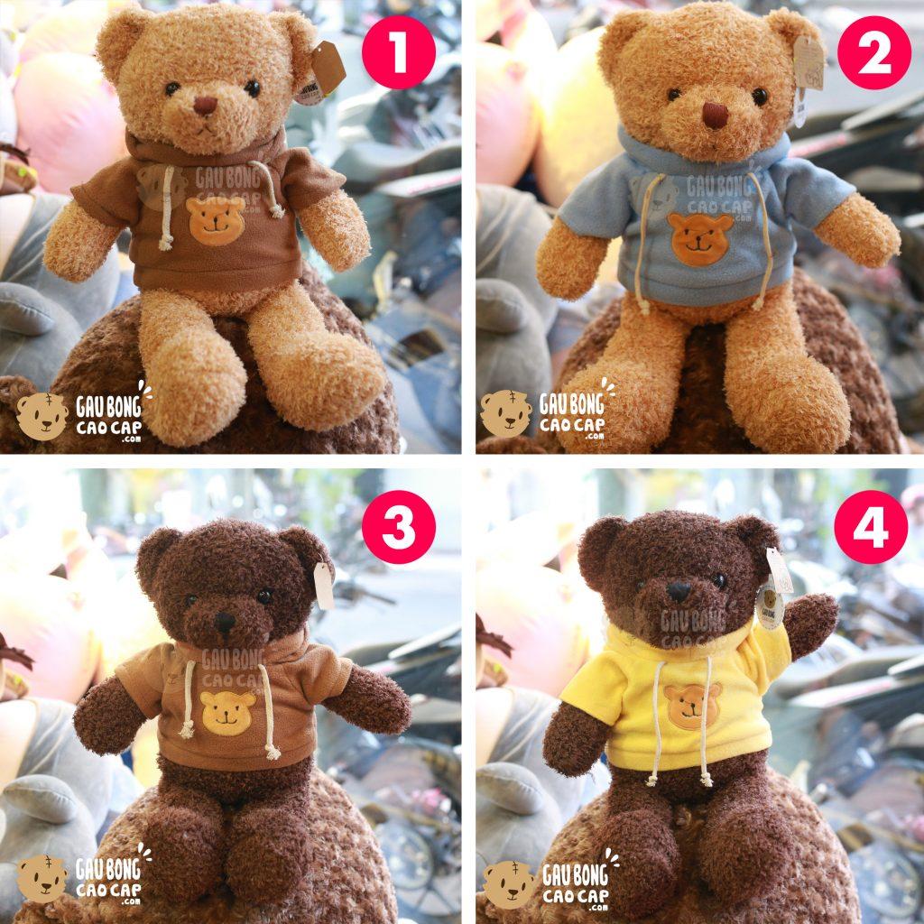 Gấu Teddy lông xù mặc áo