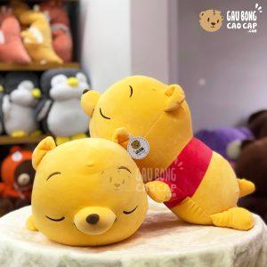 Gấu Pooh nằm mắt nhắm